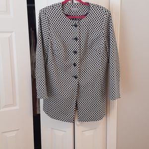 Laura black & white patterned jacket